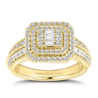 Vera Wang 18ct Gold 0.95ct Cluster Ring - Product number 2183137