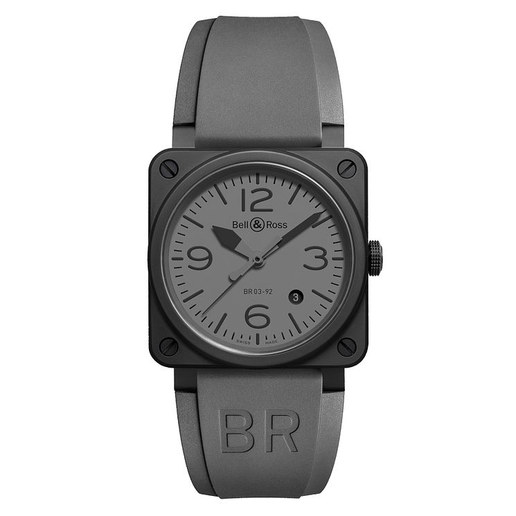 Bell & Ross BR03 men's ceramic grey strap watch - Product number 2185881