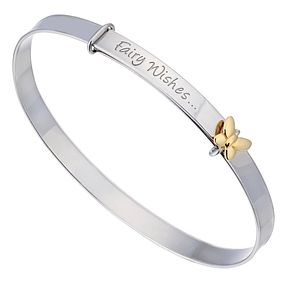 Children's Silver & 9ct Yellow Gold Fairy Wishes Bangle - Product number 2192055