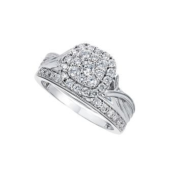 Perfect Fit 9ct White Gold 2/3 Carat Diamond Bridal Set - Product number 2202964