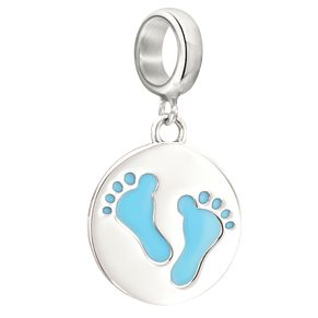 Chamilia Sterling Silver Baby Blue Footprints Charm - Product number 2207575
