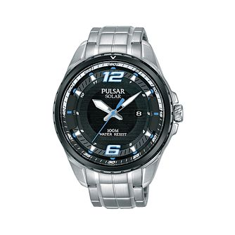 Pulsar Solar Men's Stainless Steel Bracelet Watch - Product number 2209705