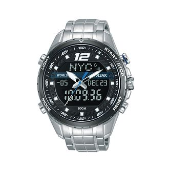 Pulsar Men's Digital Stainless Steel Bracelet Watch - Product number 2209748