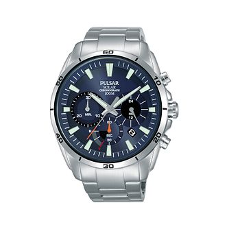 Pulsar Solar Men's Stainless Steel Bracelet Watch - Product number 2209829