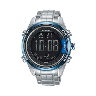 Pulsar Men's Digital Stainless Steel Bracelet Watch - Product number 2209918