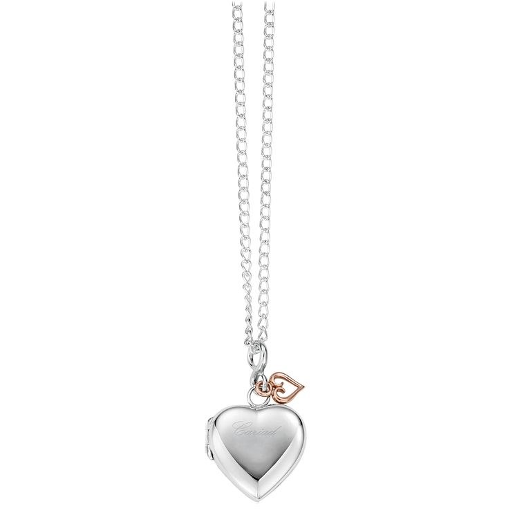 Clogau Cariad silver & 9ct rose gold heart locket - Product number 2210096