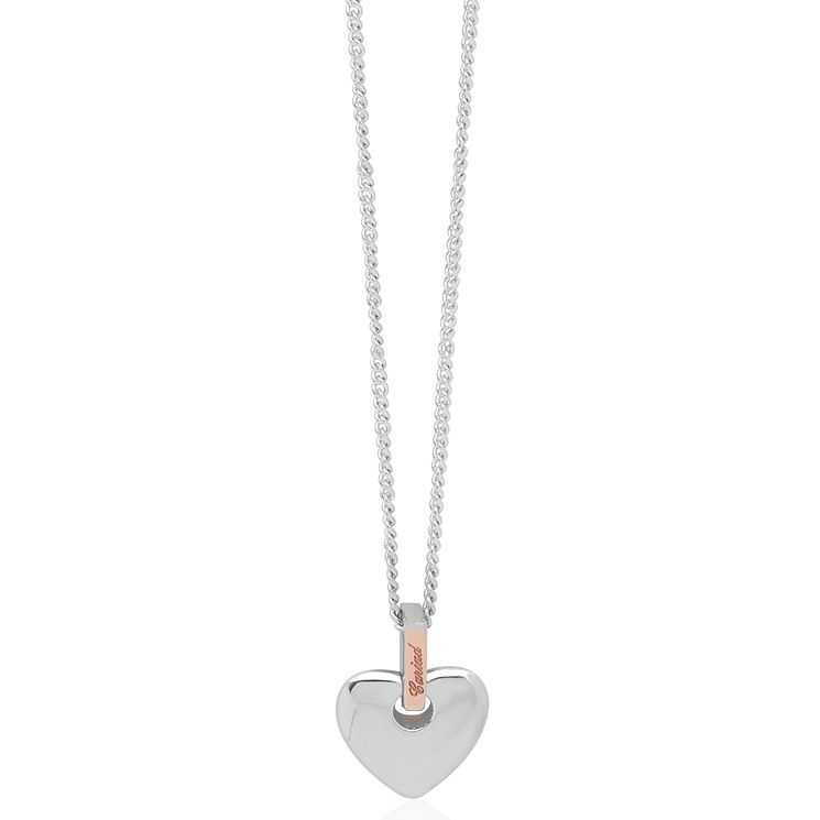 Clogau Cariad silver & 9ct rose gold heart pendant - Product number 2210118