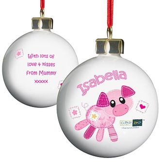 Cotton Zoo Organdie the Piglet Bauble - Product number 2210401