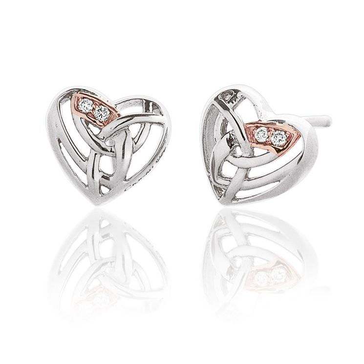 Clogau Gold Eternal Love silver & 9ct rose gold earrings - Product number 2211602