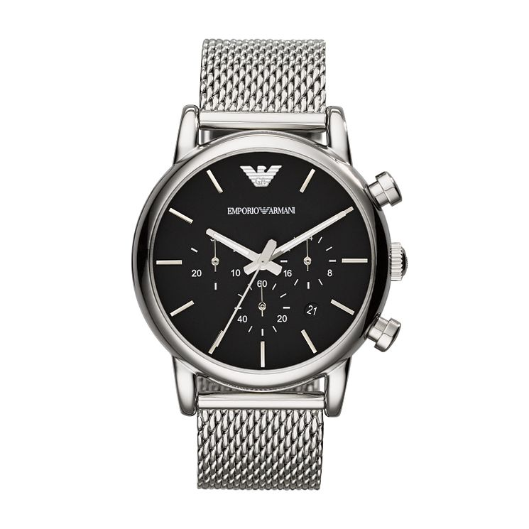 Emporio Armani Men's Stainless Steel Mesh Bracelet Watch - Product number 2219646