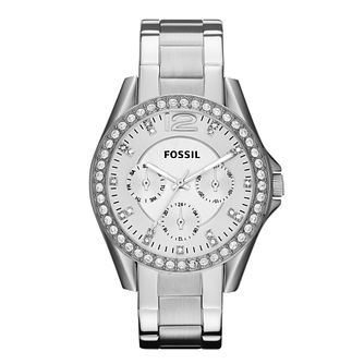 Fossil ladies' stainless steel stone set bracelet watch - Product number 2221470