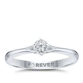 18ct White Gold 1/5ct Solitaire Forever Diamond Ring - Product number 2223171