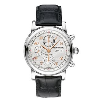 Montblanc Star men's black leather strap watch - Product number 2225425