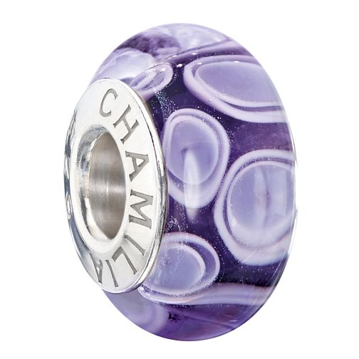 Chamilia purple murano glass bead - Product number 2225875