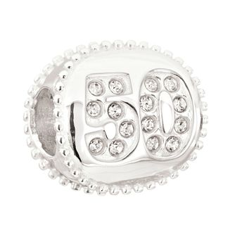 Chamilia 50 Miles sterling silver Swarovski crystal bead - Product number 2226030