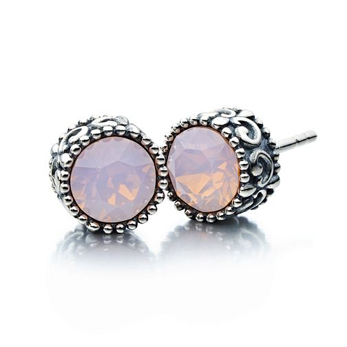 Chamilia silver & Swarovski rose crystal stud earrings - Product number 2227029