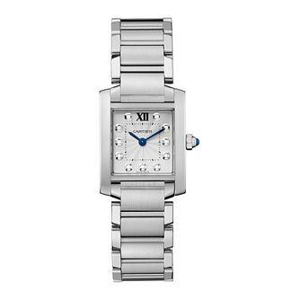 Cartier Tank Francaise ladies' stainless steel watch - Product number 2228068