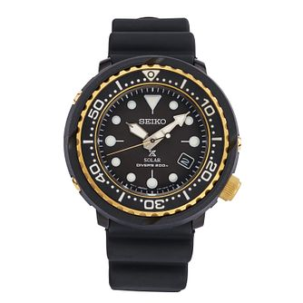 Seiko Prospex Men's IP Black Silicone Strap Watch - Product number 2231174