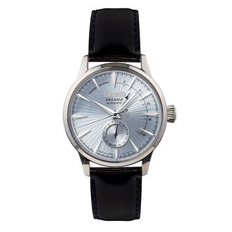 Seiko Presage Cocktail Time Men's Black Leather Strap Watch - Product number 2231190