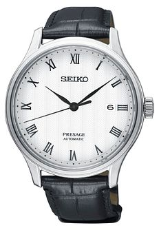Seiko Presage Japanese Pattern Men's Leather Strap Watch - Product number 2231204
