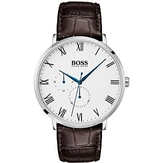 Hugo Boss William Men's Brown Leather Strap Watch - Product number 2231255