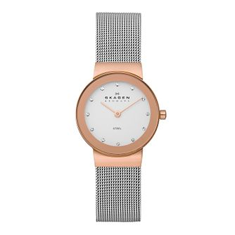 Skagen Freja Ladies' Two Colour Mesh Bracelet Watch - Product number 2232057