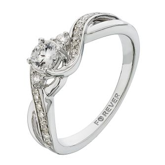 18ct White Gold 2/5 Carat Forever Diamond Ring - Product number 2233584