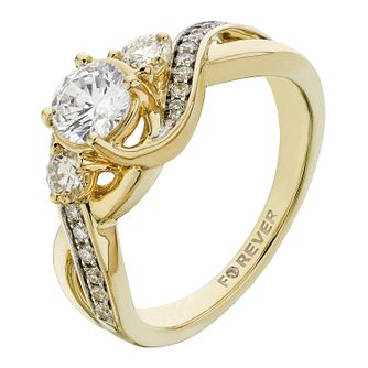 18ct Yellow Gold 1 Carat Forever Diamond Ring - Product number 2235218