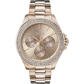 Hugo Boss Ladies' Premiere IP Rose Gold Tone Bracelet Watch - Product number 2235951