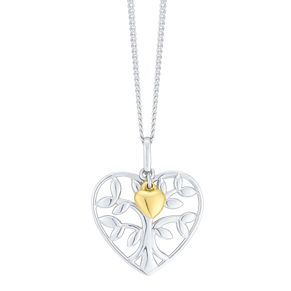 Sterling Silver & 9ct Gold Tree Of Life Design Pendant - Product number 2243881
