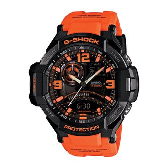 Casio G-Shock Aviator men's orange resin strap watch - Product number 2245515