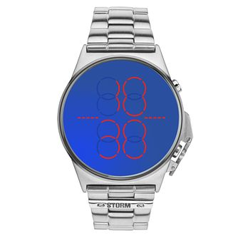 Storm Men's Digimec Stainless Steel LED Blue Dial Watch - Product number 2247720