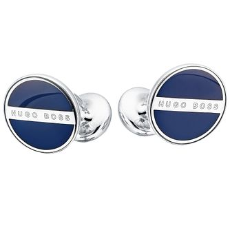 Hugo Boss Norberto men's navy round cufflinks - Product number 2251027