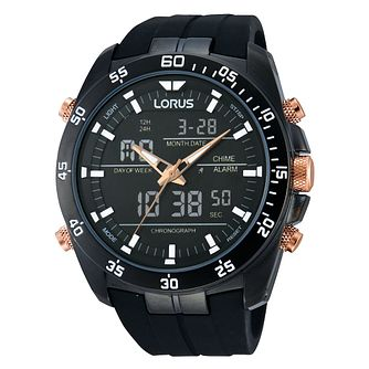 Lorus Men's Digital & Black Polyurethane Watch - Product number 2251906