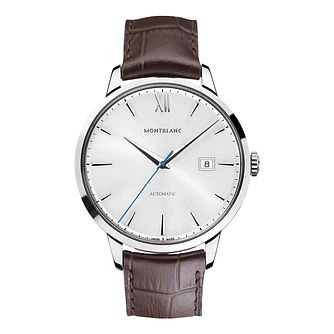 Montblanc Heritage Spirit men's black leather strap watch - Product number 2251949
