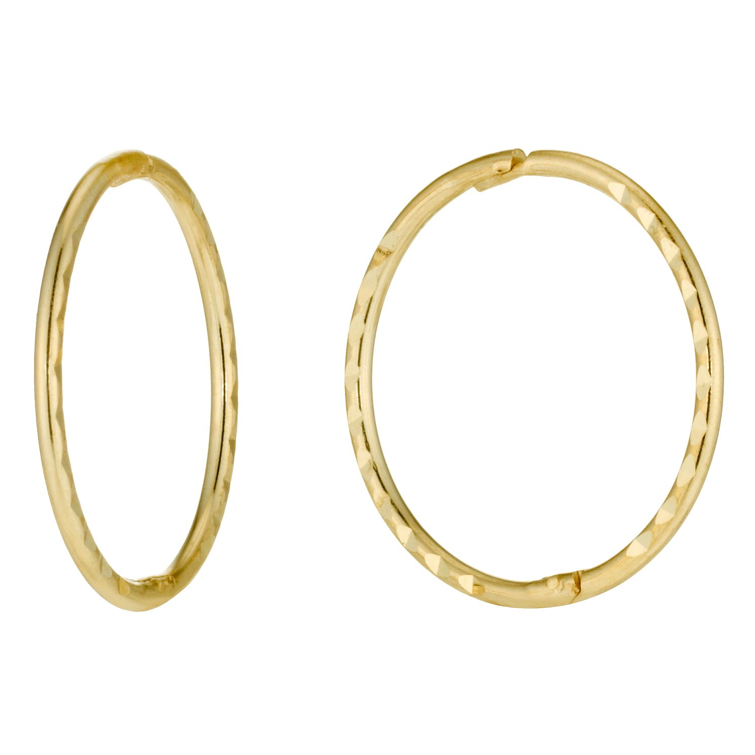 basic earrings asymmetric circle product snob