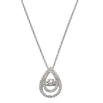 Diamonds in Rhythm silver 40 point diamond halo drop pendant - Product number 2260964