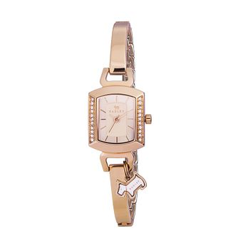 Radley Ladies' Crystal Set Rose Gold Plated Bangle Watch - Product number 2262738