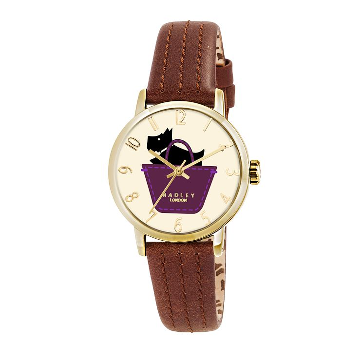 Radley Ladies' Yellow Gold Plated Tan Leather Strap Watch - Product number 2262916