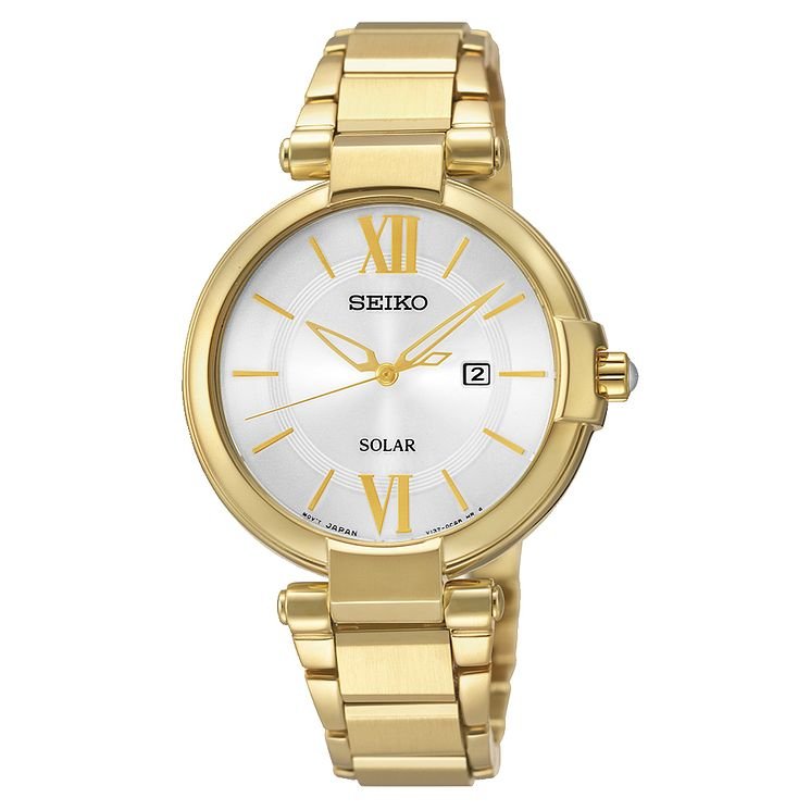 Seiko Ladies' Yellow Gold Plated Dress Watch - Product number 2263823