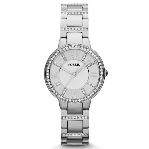 Fossil Ladies' Virginia Stainless Steel Crystal Watch - Product number 2266679
