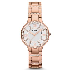 Fossil Ladies' Rose Gold Tone Crystal Watch - Product number 2266687