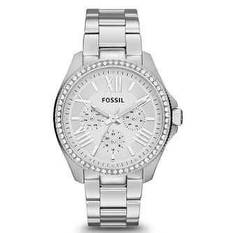 Fossil Ladies' Cecile Stainless Steel Crystal Set Watch - Product number 2266695