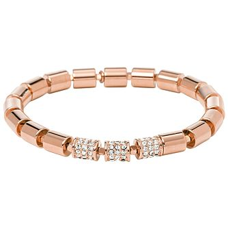 Fossil Rose Gold-Plated Stone Set Stretch Beaded Bracelet - Product number 2267470