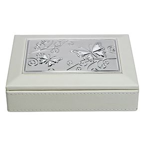 Cream Aluminium Inlay Jewellery Box - Product number 2268442