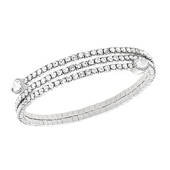 Swarovski Twisty rhodium-plated crystal drop bangle - Product number 2270609