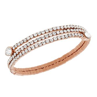 Swarovski Twisty rose gold-plated crystaldrop bangle - Product number 2270765
