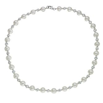Silver & Cultured Freshwater Pearl Strand Necklace - Product number 2272601