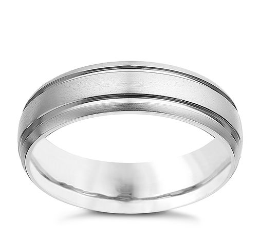 Titanium men's double groove ring - Product number 2277131