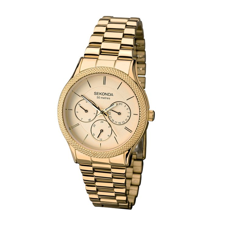 Sekonda Editions Ladies' Yellow Gold Tone Watch - Product number 2286629